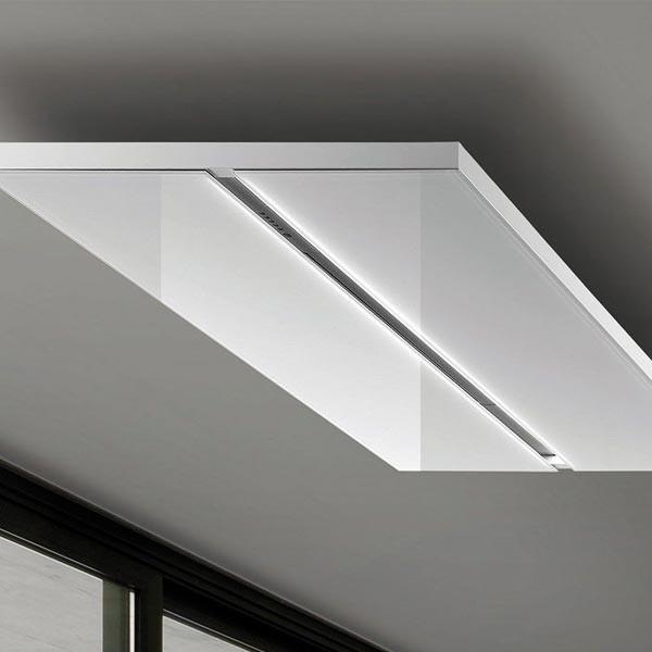 Airone Bianca Deckenlüfter in Glas Weiß