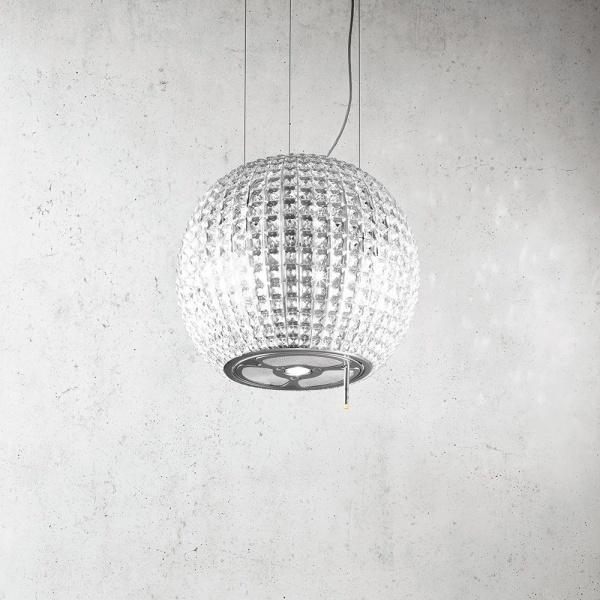 Elica Star Inselhaube Edelstahl mit Glas