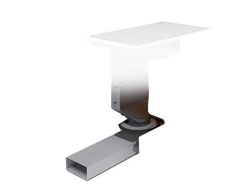 abluftweiche luftausgang rechts dunstabzugshaube dunsthaube haube zubeh r k che. Black Bedroom Furniture Sets. Home Design Ideas