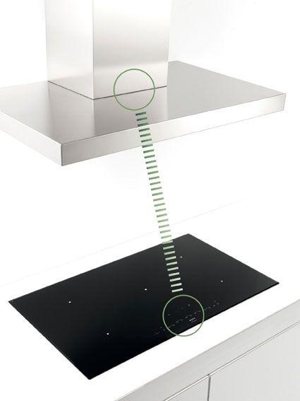 Novy InTouch-Modul Kochfeld und Dunsthaube kombiniert